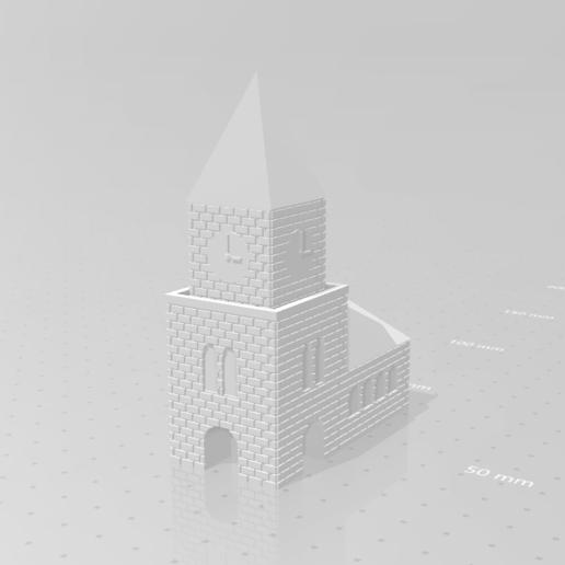 kerk_01.png Download STL file Church • 3D print design, eAgent