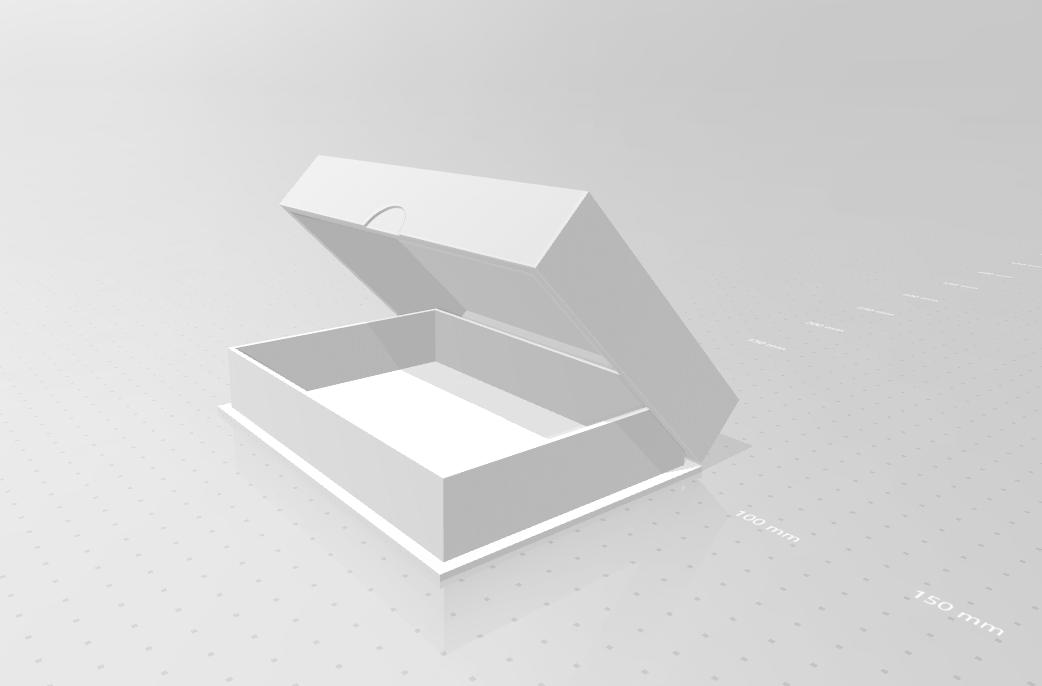 doosje_02.png Download STL file SNES game cartridge holder • 3D printer design, eAgent