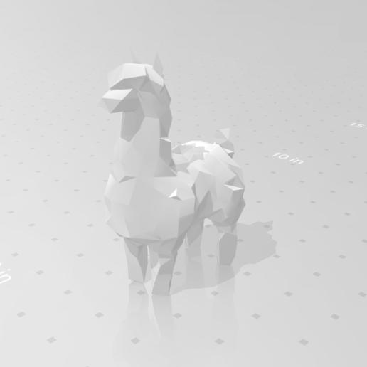 alpaca_01.png Download STL file Low poly alpaca • 3D printing template, eAgent