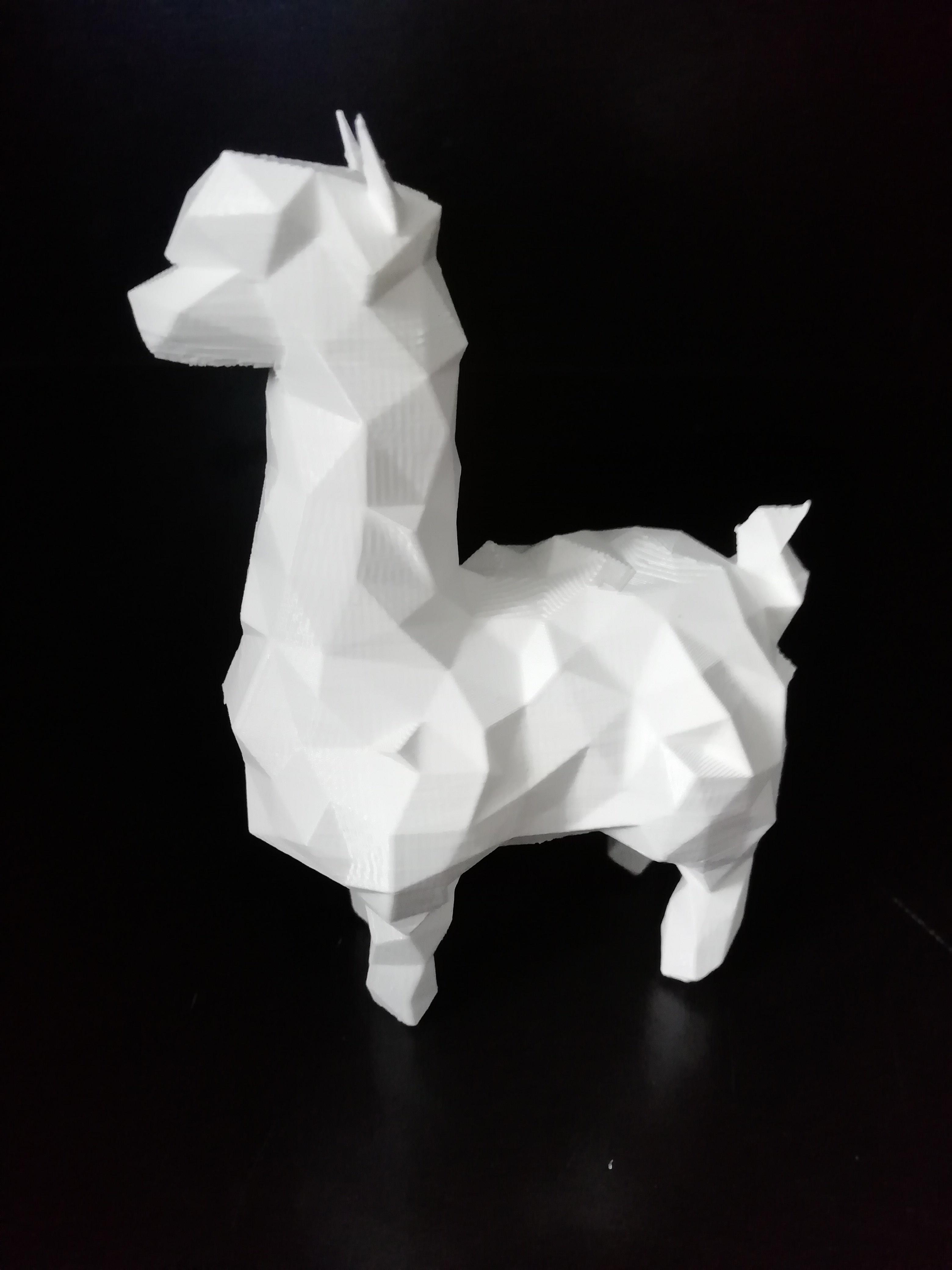 alpaca_04.jpg Download STL file Low poly alpaca • 3D printing template, eAgent