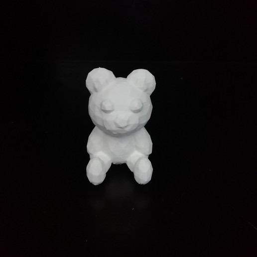 IMG_20200807_104356.jpg Download STL file Low poly Teddy bear • 3D print template, eAgent