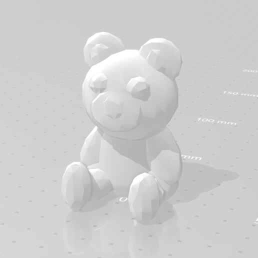 LP_beer_01.png Download STL file Low poly Teddy bear • 3D print template, eAgent