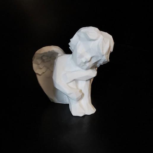 angel_01.jpg Download STL file Low poly Angel resting • 3D print design, eAgent