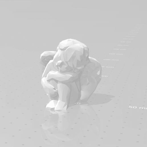 Angel resting design.png Download STL file Low poly Angel resting • 3D print design, eAgent
