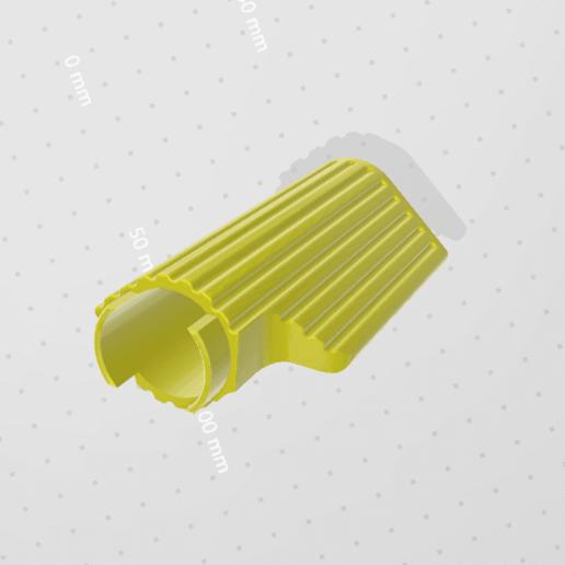 Download Free STL Files Handle Bar Grip (90mm) ・ Cults
