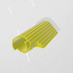 Download free STL file Handle Bar Grip (90mm) • 3D printing design, Mashed_3D