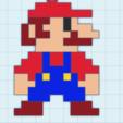 Download free STL files Mario pixel key ring, angelarturolp1985