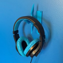 Download free STL file Headphone Holder • 3D printer design, Volts24