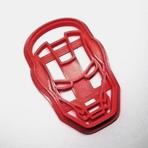 Télécharger objet 3D gratuit Découpeur de biscuits Ironman Face, insua_lucas