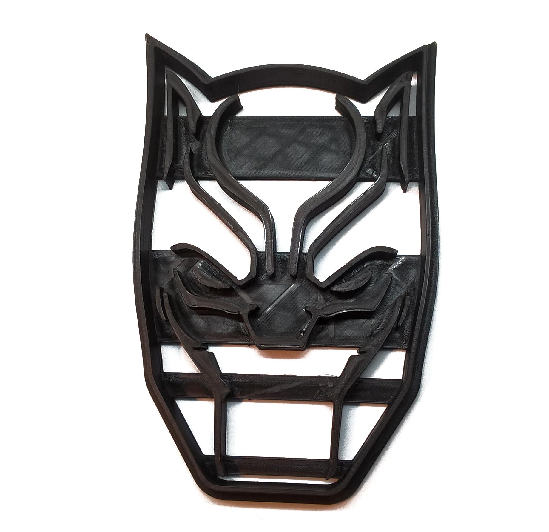 Cara de Black Panther.jpg Télécharger fichier STL gratuit Coupe-biscuit Panthère noire • Design imprimable en 3D, insua_lucas