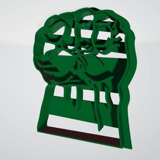 Puño de hulk2.png Télécharger fichier STL gratuit Coupeur de biscuit hulk punch • Modèle pour imprimante 3D, insua_lucas