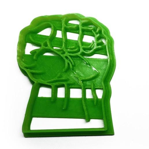 hulk-puño2.jpg Télécharger fichier STL gratuit Coupeur de biscuit hulk punch • Modèle pour imprimante 3D, insua_lucas