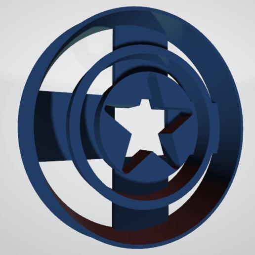 Escudo capitan america1.png Télécharger fichier STL gratuit Le cotre à biscuits Captain America • Plan pour imprimante 3D, insua_lucas
