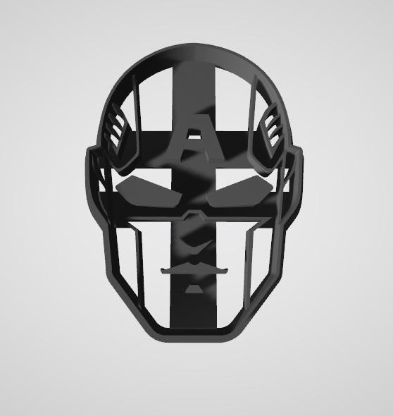 Capitan America Cara2.jpg Télécharger fichier STL gratuit Coupeur de biscuits Captain America Face • Modèle à imprimer en 3D, insua_lucas