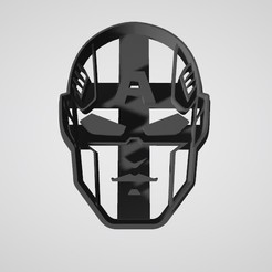 Download free 3D printer files Cookie cutter Captain America Face, insua_lucas