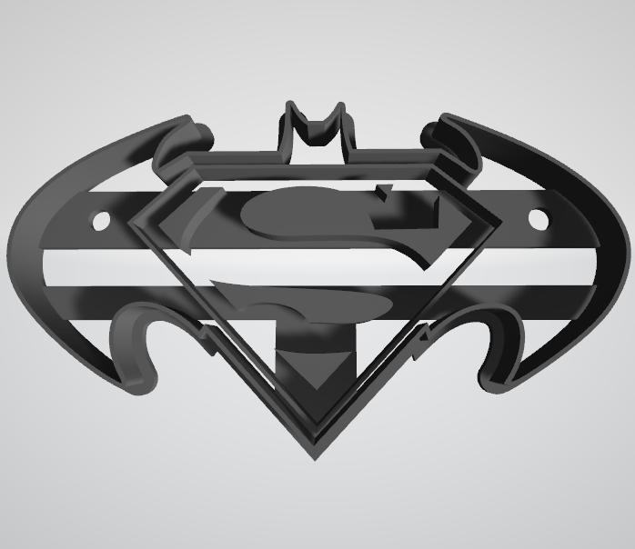Batman vs Superman.png Télécharger fichier STL gratuit Le coupeur de biscuits Batman contre Superman • Objet pour impression 3D, insua_lucas