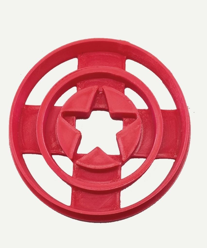 Escudo Capitan.jpg Télécharger fichier STL gratuit Le cotre à biscuits Captain America • Plan pour imprimante 3D, insua_lucas