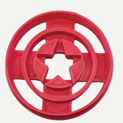 Download free 3D printer templates Cookie cutter Captain America, insua_lucas
