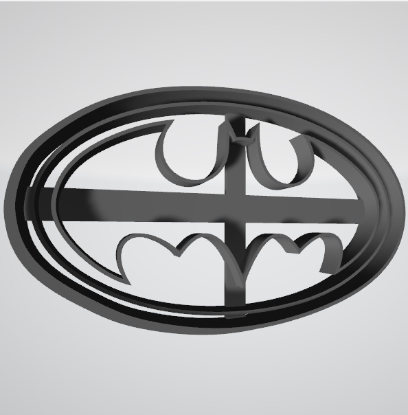 Logo Batman1.jpg Télécharger fichier STL gratuit Logo de Batman, coupeur de biscuits • Plan à imprimer en 3D, insua_lucas