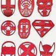 todos juntos copy.jpg Télécharger fichier STL gratuit Coupe-biscuits des super-héros x20 • Plan pour imprimante 3D, insua_lucas