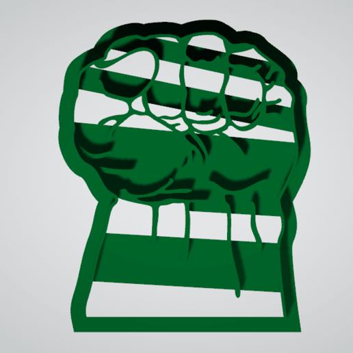 Puño de hulk3.png Télécharger fichier STL gratuit Coupeur de biscuit hulk punch • Modèle pour imprimante 3D, insua_lucas
