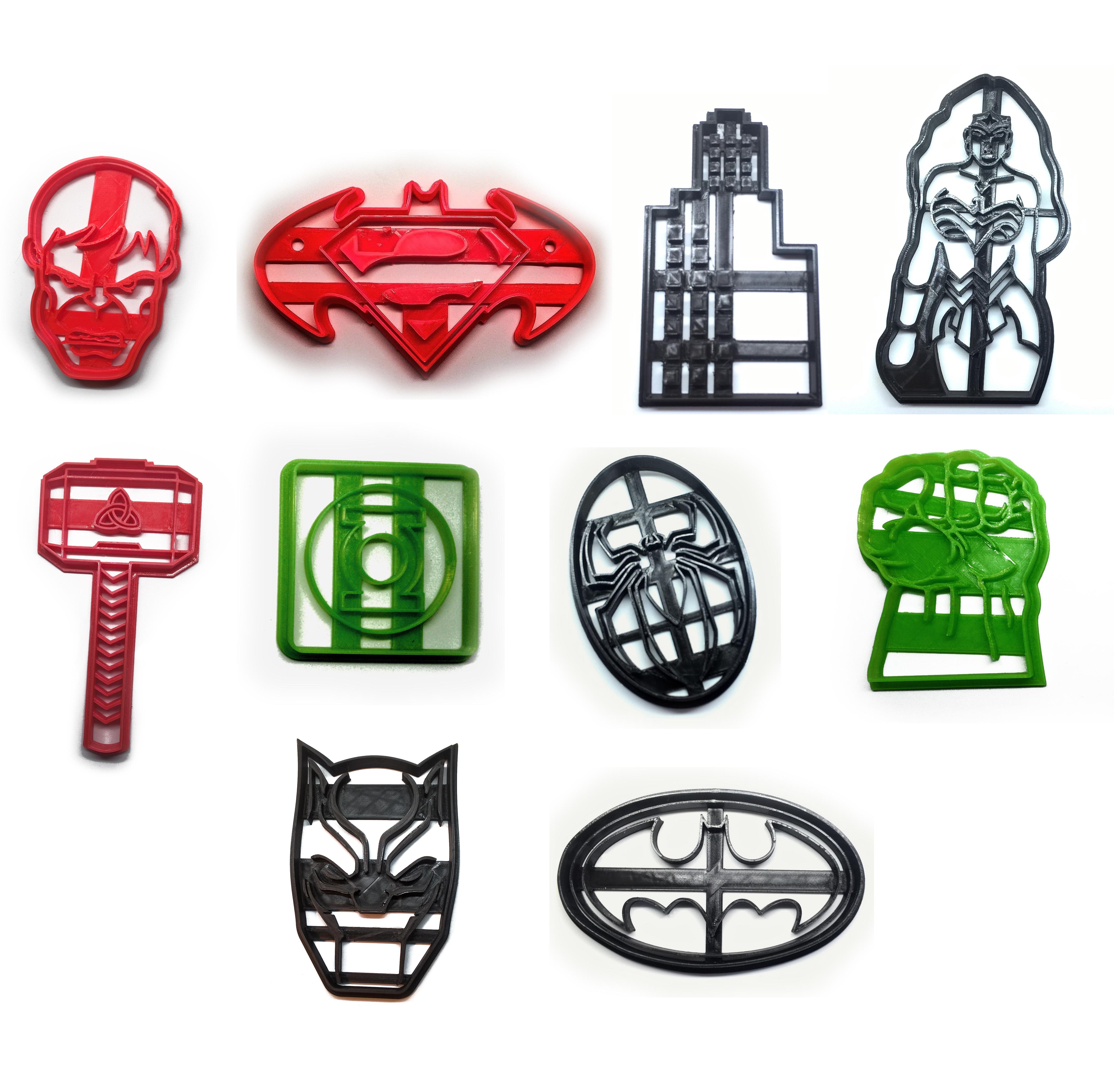 todos juntos2.jpg Télécharger fichier STL gratuit Coupe-biscuits des super-héros x20 • Plan pour imprimante 3D, insua_lucas