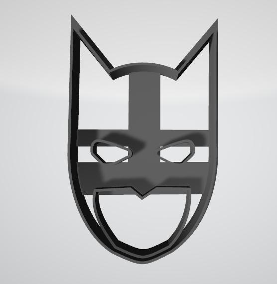 Cara de Batman1.png Télécharger fichier STL gratuit Coupe-biscuits Batman • Modèle imprimable en 3D, insua_lucas