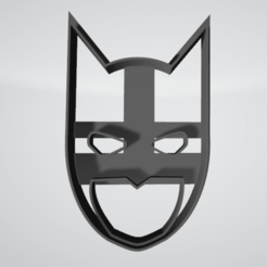 Download free 3D printer designs Batman Face Cookie Cutter, insua_lucas