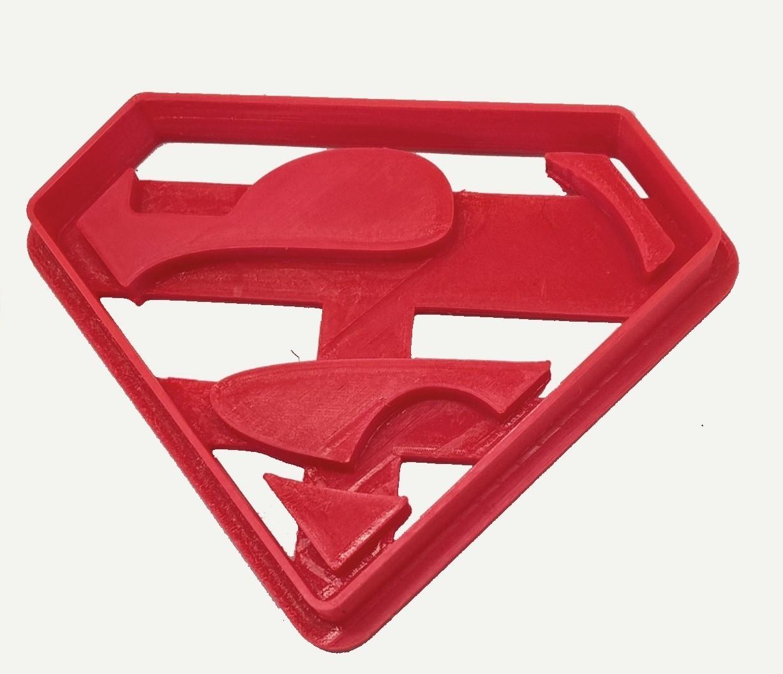 Escudo Superman.jpg Télécharger fichier STL gratuit Logo de Superman sur les biscuits • Plan pour imprimante 3D, insua_lucas
