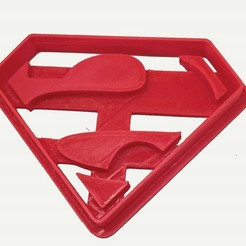 Download free STL Cookie cutter Superman Logo, insua_lucas