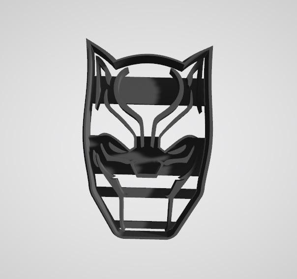 Black panther3d.jpg Télécharger fichier STL gratuit Coupe-biscuit Panthère noire • Design imprimable en 3D, insua_lucas