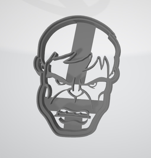 Cara de Hulk1.jpg Télécharger fichier STL gratuit Découpeur de biscuits Hulk Face • Design pour imprimante 3D, insua_lucas