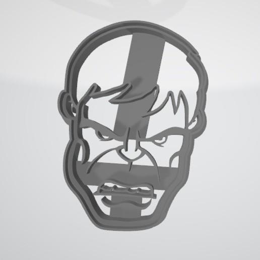 Télécharger objet 3D gratuit Découpeur de biscuits Hulk Face, insua_lucas