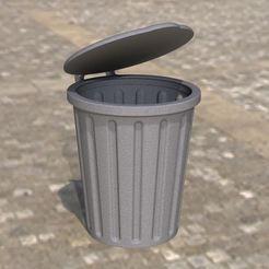 Render2.JPG Télécharger fichier STL poubelle/poubelle avec couvercle • Design imprimable en 3D, anlosay