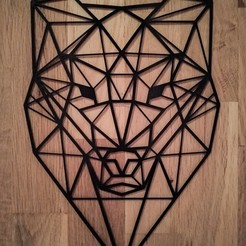 Download 3D printer model Animal wire wall - Wolf, anlosay