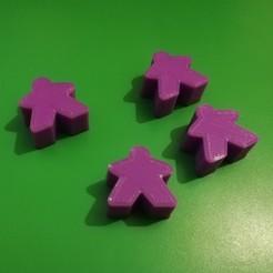 Download free 3D printer designs Meeple Board Games, carlosgm8cg