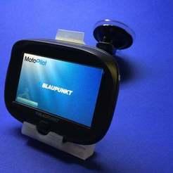 IMG_3628ret.jpg Télécharger fichier STL gratuit Monture pour le Blaupunkt Motopilot 43 • Design pour imprimante 3D, willie42