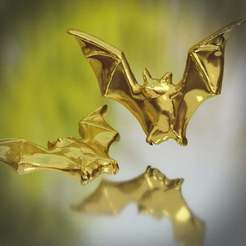 untitled2.jpg Download free STL file Bat Brooche • 3D printing object, willie42