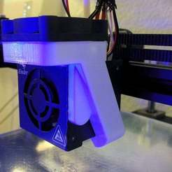 IMG_8993.jpg Download free STL file Ender 4 Magnetic 40 mm Fan Duct • 3D printer model, willie42