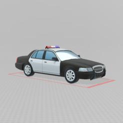 Impresiones 3D gratis Coche de policía, BearizTV