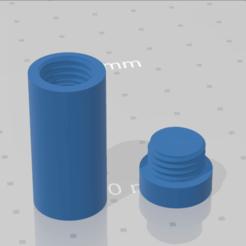 Imprimir en 3D Caja de rosca cilíndrica redimensionable, Boubakar