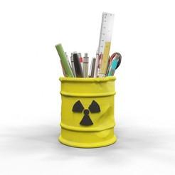 rad1.jpg Download OBJ file Radioactive pencil holder • 3D printable design, kirillxenon