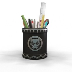 Descargar STL Porta lápices de pantera negra, kirillxenon