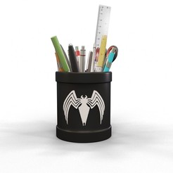 Download free 3D print files Venom pencil holder, kirillxenon