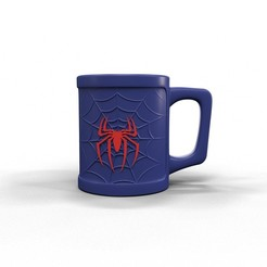 Download 3D printer files Spiderman mug, kirillxenon