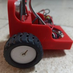 IMG_20200504_123149.jpg Download STL file RedBot Arduino Happy two wheeled robot axial traction beginner • 3D print object, Laurent_Reyes