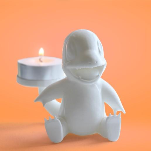 Download 3D printing models Charmander Tealight Candle Holder, CraftedByWild