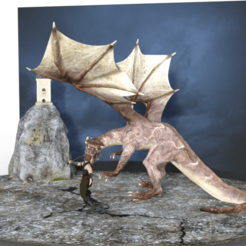 1.png Download STL file Dragon and Knight • 3D printing design, diegolopez2662