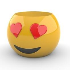 ViewCapture20210119_111510.jpg Télécharger fichier STL Emoji in Love pot • Design pour impression 3D, sebasmadrida