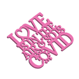 LoveIsInTheAirAndSoIsCovidCardAccessoryWithOutJumpring3DPrintImage.png Download STL file 2021 Valentine's Day Love Is In The Air & So Is Covid Keychain Tag, Ornament/Gift Tag & Card Decoration • 3D print object, CBDesigns